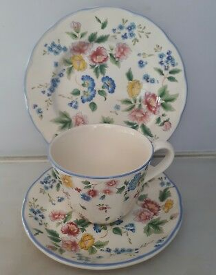"Laura Ashley ""hazelbury"" Trio Cup Saucer Plate Floral Design"