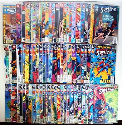 Huge 77 Comics Lot. Superman Man Of Steel #'s 2-83 + Annuals (1991-1998)