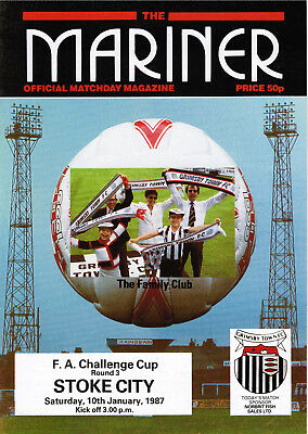 1986/87 Grimsby Town v Stoke City, FA Cup, PERFECT CONDITION