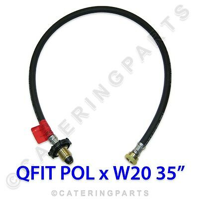 0.9m LPG HOSE HAND WHEEL QUICKFIT POL W20 PIGTAIL GAS PIPE BOTTLE CONNECTOR HOSE