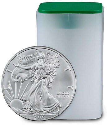 Roll of 20 - 2016 1 oz. .999 Fine American Silver Eagle BU Coin SKU38287