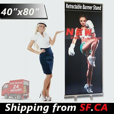 "40"" x 80"" Retractable Banner Stand Wholesale Roll Up Trade Show Display Stand"