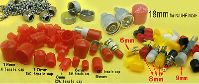 RCA BNC TNC N SMA connector female Plastic covers Dust cap Red Protection cover