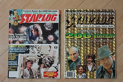 STARLOG MAGAZINE. 200th Special Edition March 1994 and bonus issue #78 Jan 1984