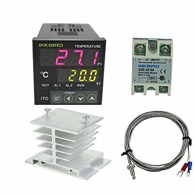 HVAC Controls AC 100 - 220V ITC-100VH Outlet Digital PID Thermostat Temperature