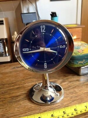 big Ben Repeater Westclox Alarm Clock Trendy Blue Face On Stand