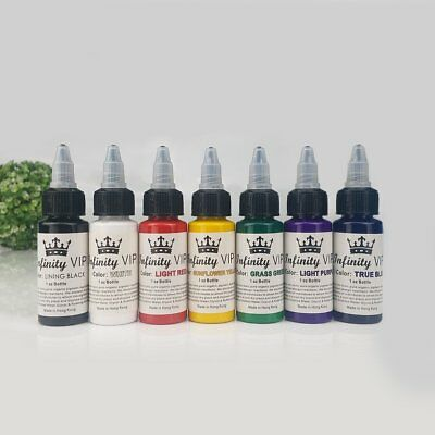 Professional Salon Tattoo Ink 7 Colors Set 1oz 30ml/Bottle Pigment Kit Art YP