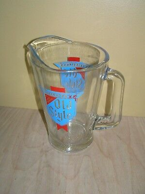 Vintage Old Style Beer Glass Pitcher