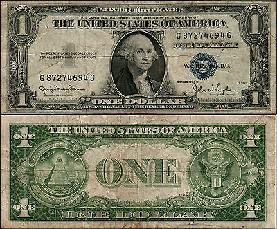 1935D  Us $1 One Dollar Silver Certificates Notes Lot Y736