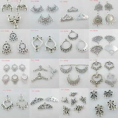 Mixed Silver Earring/Necklace Connectors Charms Pendants DIY Jewelry Findings