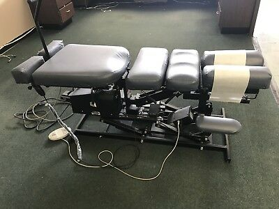 Chiropractic Table.  4 Drops And Auto Cox Flexion, Plane Traction, Elevation