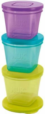 Annabel Karmel by NUK 6 BABY FOOD STACKABLE POTS/CONTAINERS Feeding Storage BN