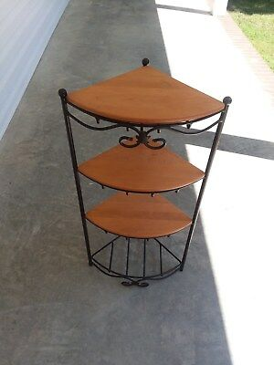 ** LONGABERGER ** Wrought Iron Foundry Collection (CORNER STAND) with 3 shelves