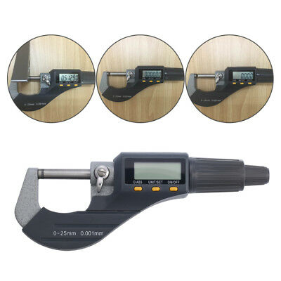 """Digital Electronic Micrometer Outside 0-1""""/0.00005"""" X-Large LCD Carbide GS11"""