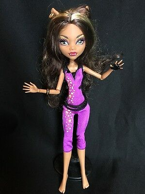 Monster High Music Festival Clawdeen Wolf Doll Jumpsuit Werewolf No Shoes MH EUC
