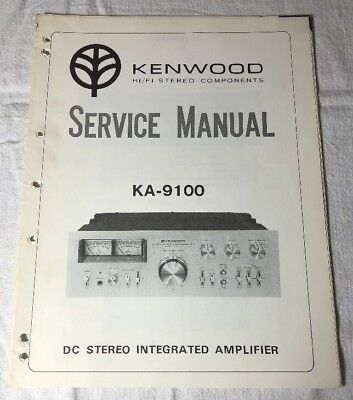 kenwood ka 9100 integrated amplifier original service manual rh picclick com Kenwood KA 8100 Modifications Kenwood Ka- 9150