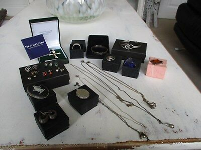 large collection of antique vintage & modern silver jewellery unusual lot..