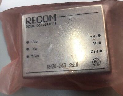 Recom Isolated DC-DC Converter RP30-243.3SEW, Vin 10-40 V dc, Vout 3.3V dc