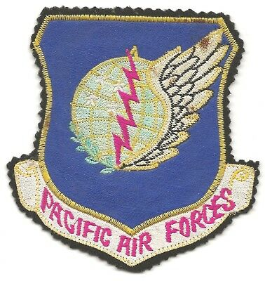 Neat Korean Made Jacket Patch For The Pacific Air Forces With Leather Background