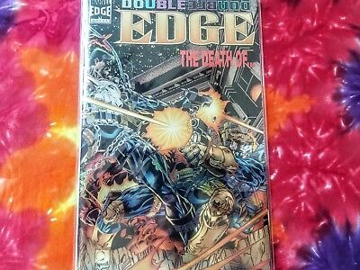 """Double Edge Omega """"the death of...""""'95 marvel foil cover vf+"""