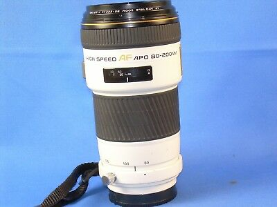 MINOLTA, HIGH SPEED AF 80-200mm F/2.8 APO lens. Beautiful! Great for Sony Too!