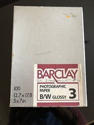 Barclay Photographic Paper B/W Glossy 3 - 5x7in (Part Used)