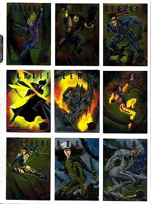 1995 X-MEN Fleer Ultra Marvel Sinister Observations Chromium 10-Card Set NM