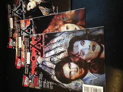 topps comics X- Files Special numbered edition 1, 2 and 3
