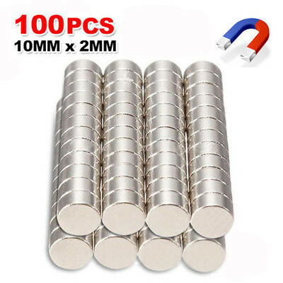 100x N35 Super Strong Round Disc Magnets Rare Earth Neodymium Magnet 10mmx2mm