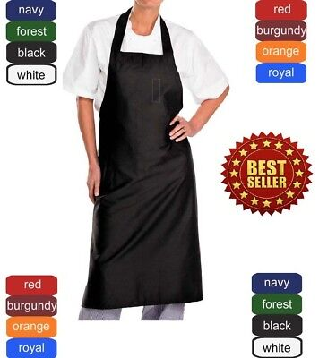 bib aprons 12-pack with ties new spun poly craft/commercial restaurant kitchen