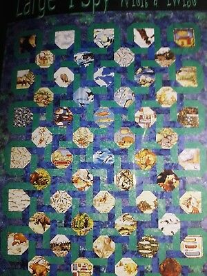 Large I Spy With A Twist Pieced Quilt Pattern