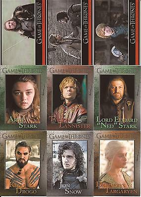 Game of Thrones Season 1 Trading Cards - Basis Set (72 Karten)