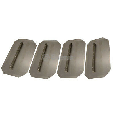 """Pack of 4 Trowel Blades For Wacker and other units  14""""L x 8""""W  Fits 36"""" Trowel"""