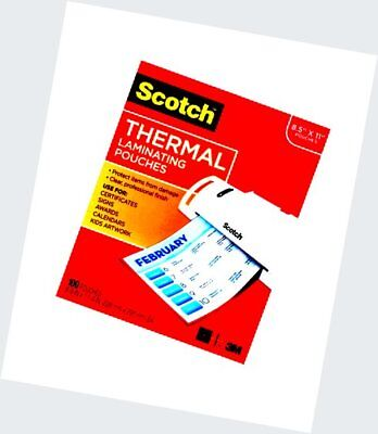 Scotch Thermal Laminating Pouches, 8.9 x 11.4 -Inches, 3 mil thick, 100-Pa..