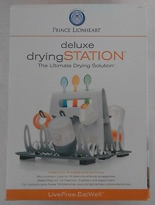 Prince Lionheart Deluxe Drying Station + 2 Pack Avent Soothie Pacifiers