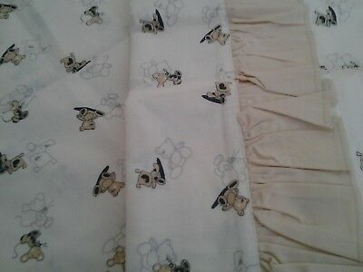 Decorative Curtains For Baby Room  And Matching Pillowcase And Cot Tidy