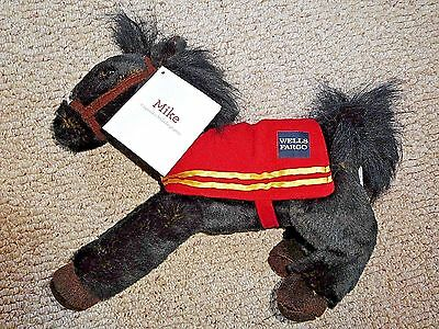 Wells Fargo Horse Legendary Pony Plush 2016 Mike Black Brown With Tags