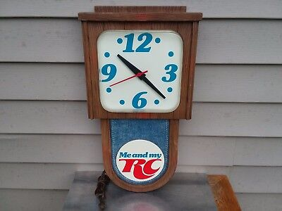 """Vintage Original Rc Cola Me And My Rc Promotional Advertising Wall Clock """"works"""""""