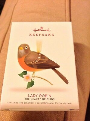 2018 Hallmark LIMITED EDITION Lady Robin Beauty of Birds NIB hard to get!! NR