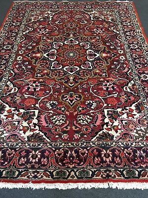 """VTG 75""""x120"""" AUTHENTIC ORIGINAL PERSIAN BAKHTYAR RUG HAND KNOTTED WOOL CARPET"""