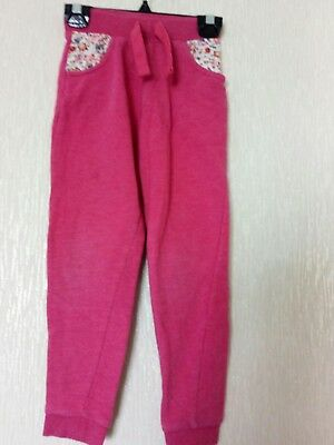 Nutmeg girls pink tracksuit trousers  age 5-6 years