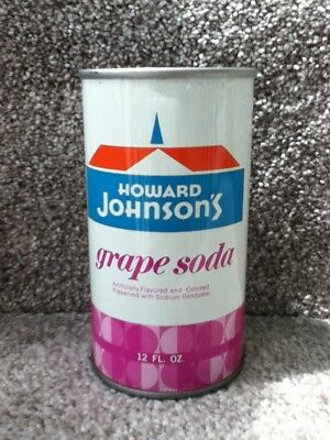 Howard Johnson's Grape.(70's). Straight steel, pull top with no bar code or ml.