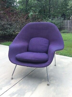 Iconic Mid Century Modern Saarinen Womb Chair Knoll 1973 Eames era No Ottoman