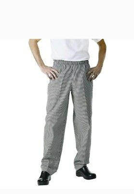 "NEW Chef Works NBCP-000-2XL Checkered Baggy Designer Chef Pants ""2XL"""