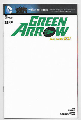Green Arrow #28 DC Comic 2014 Blank Get A Sketch Variant Cover Lemire Sorrentino