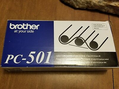 GENUINE BROTHER PC-501 Printing Cartridge for FAX-575 ORIGINAL OEM NEW & SEALED