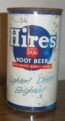 LATE 1950's ANCHORAGE ALASKA HIRES ROOT BEER CAN ROOTS,BARKS,HERBS, BOTTOM OPEN