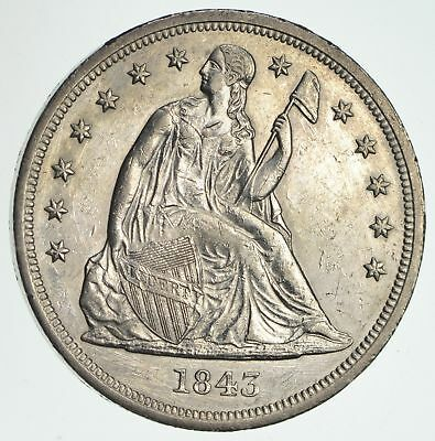 1843 Seated Liberty Silver Dollar - Near Uncirculated *4229