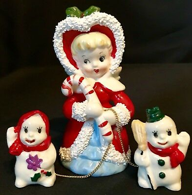 Santa Figures Christmas Modern 1946 90 Holiday
