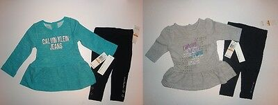 2 Piece Calvin Klein Leggings & Tunic Top Set ~ Pick Your Color ~ New With Tags